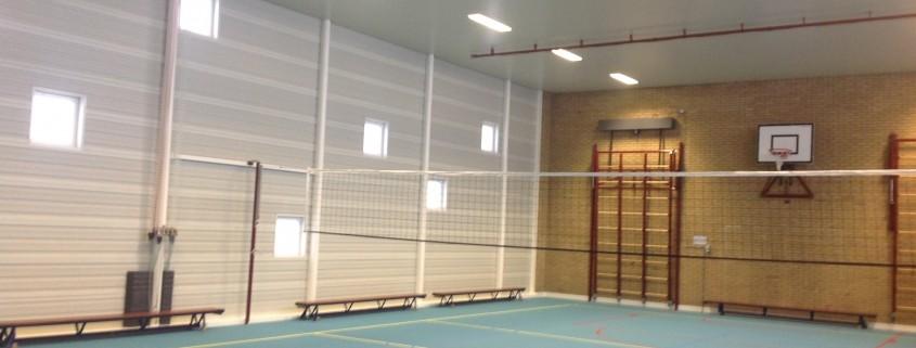 Sportzaal Van Zantenstraat Ede schilderwerk