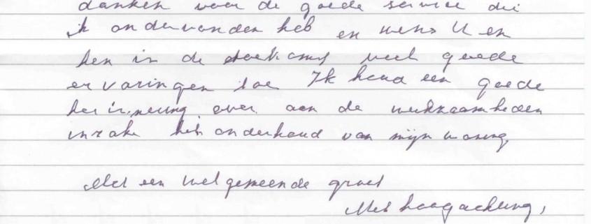 Brief mevrouw Jansen