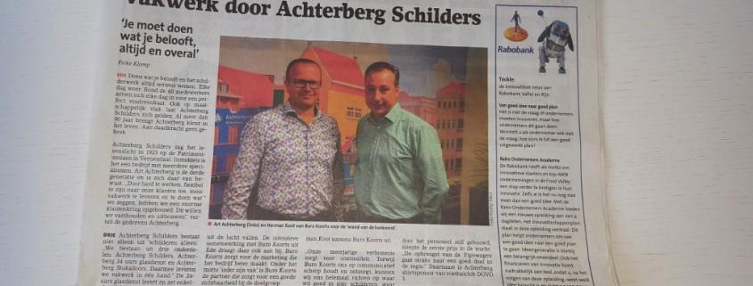 Achterberg Schilders in Veenendaalse krant