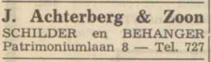 1953 advertentie De Vallei