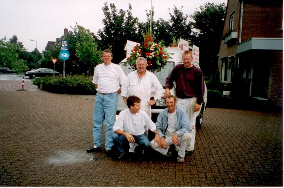 1991 groepsfoto Achterberg & Zn