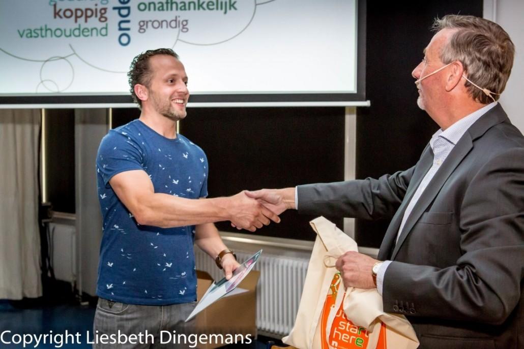Robin van Beek diploma uitreiking