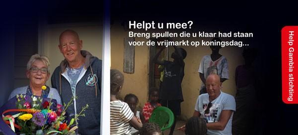Dirk Veldhuizen helpt kinderen in Gambia
